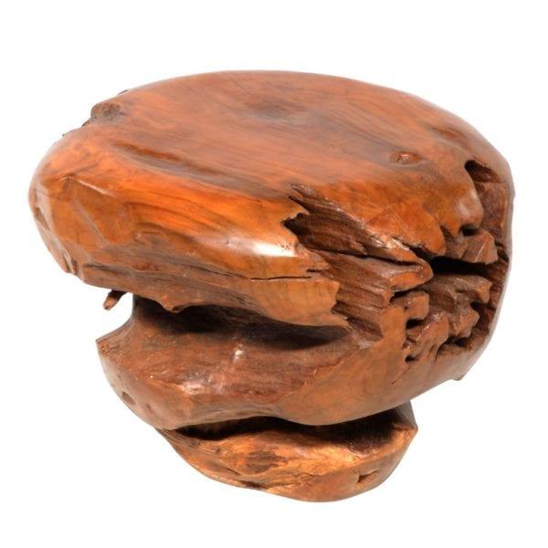 Reclaimed Teak Wooden Ball Stool