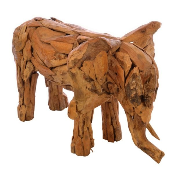 Reclaimed Teak Handcrafted Driftwood Elephant