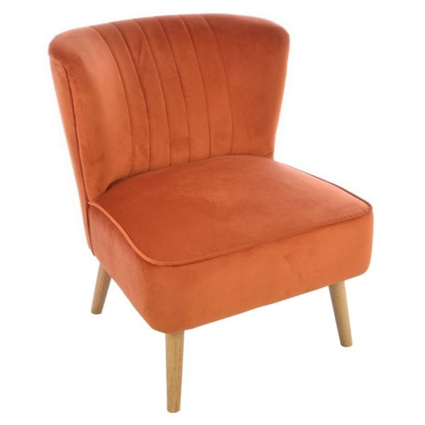 Cordelia Velvet Cocktail Chair - Available in a Choice of Colours