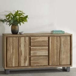 Arcadian Rustic Industrial Large Sideboard Cabinet in Solid Wood