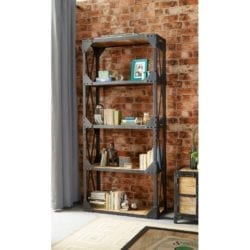 Lowell Industrial Style Metal Bookcase Display Unit