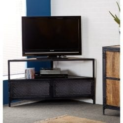 Lowell Industrial Style Corner TV Media Cabinet Unit