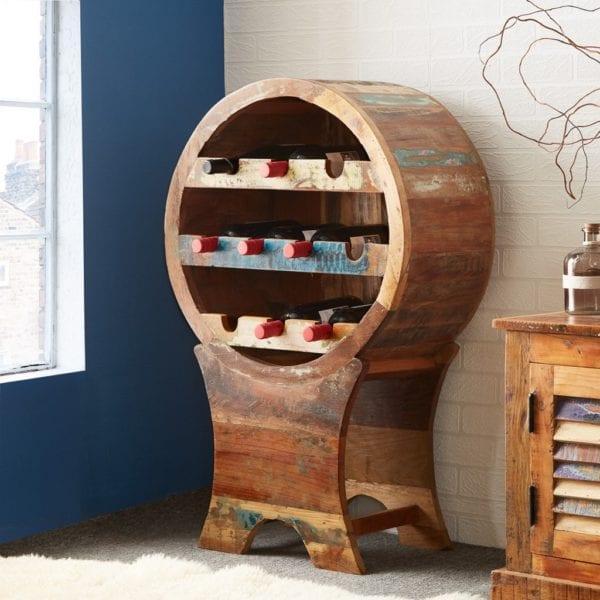 Vintage Shores Wooden Wine Bottle Rack Cabinet