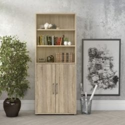 Priory Large Cabinet with Cupboards & Shelving - Available in a Choice of Colours