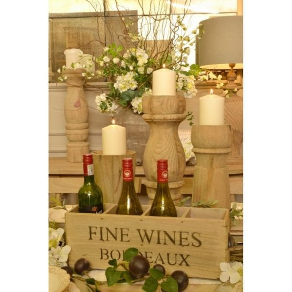 Bordeaux Design 4 Bottle Fine Wines Box