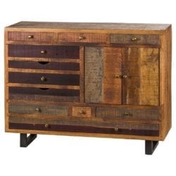 Reclaimed Wood Multi Drawer Sideboard Cabinet