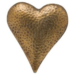 Eli Bronze Effect Heart with Dimpled Effect