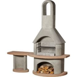 Buschbeck Carmen Masonry Barbecue in Grey & Terracotta with Side Table