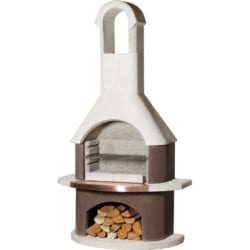 Buschbeck St Moritz Masonry Barbecue in Brown & White