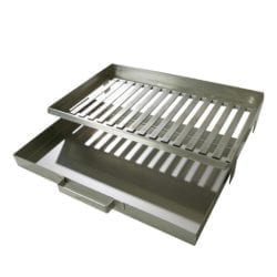 Buschbeck Stainless Steel Barbecue Fire Grate & Ash Pan