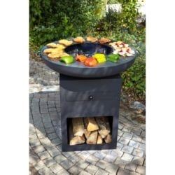 Buschbeck Yurok Large Fire Pit Plancha Steel Barbecue Grill