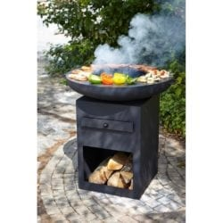 Buschbeck Yurok Extra Large Fire Pit Plancha Steel Barbecue Grill