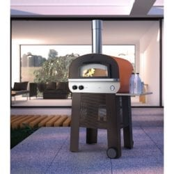 Fontana Piero Gas & Wood Fired Pizza Hybrid Oven with Trolley