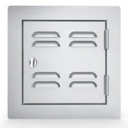 Sunstone Single Stainless Steel Vented Utility Door