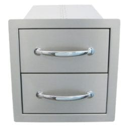 Sunstone Double Stainless Steel Drawer Unit