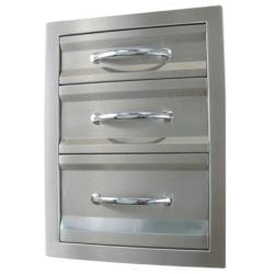 Sunstone Premium Stainless Steel Triple Drawer Unit
