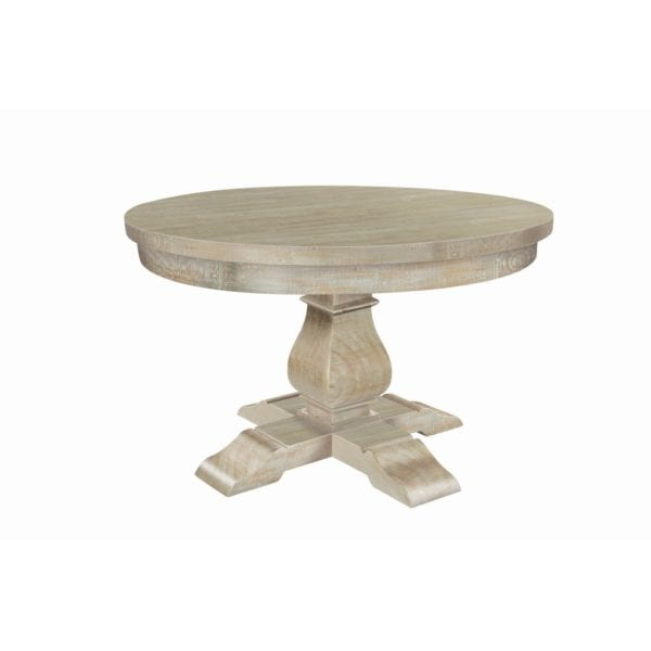 Bardsley Round Reclaimed Limed Wood Kitchen Dining Table