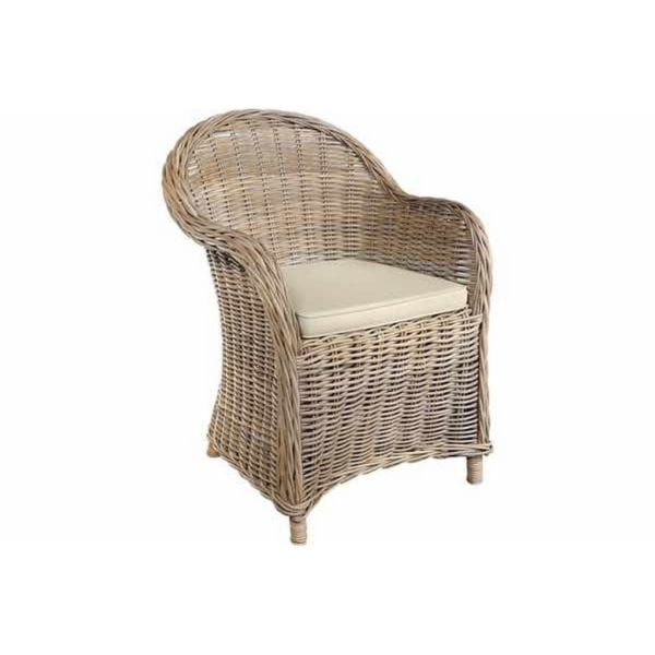 Quincy Rattan Armchair with Cushion - Available in a Choice of Colours