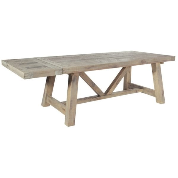 St Leonards Chunky Reclaimed Wood Extendable Farmhouse Kitchen Dining Table - Available in a Choice of Sizes