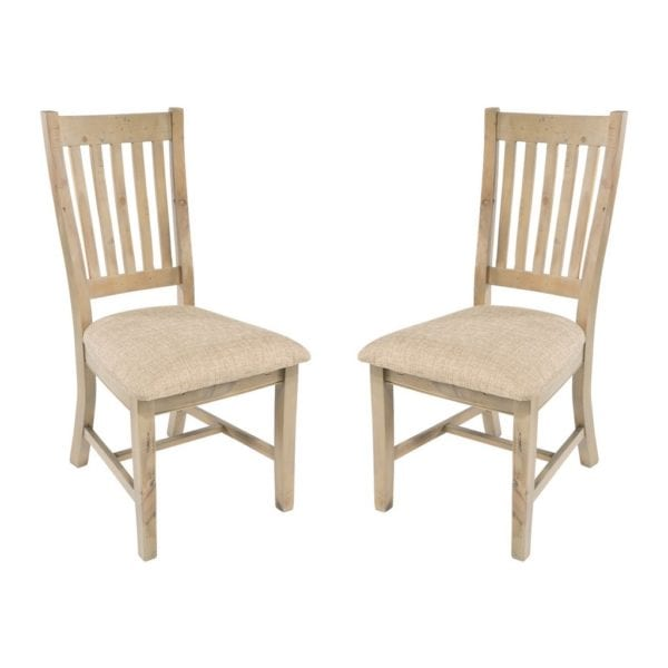 St Leonards Reclaimed Wood Kitchen Dining Chair - Set of 2