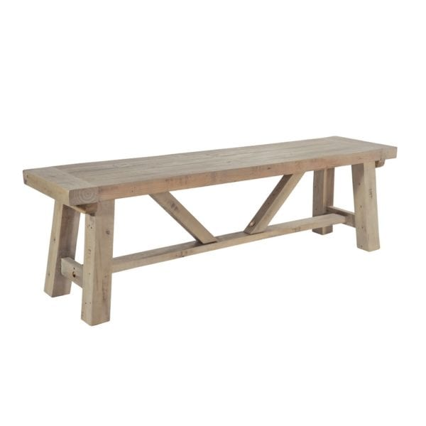 St Leonards Chunky Reclaimed Wood Kitchen Dining Bench - Available in a Choice of Sizes