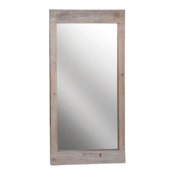 St Leonards Rustic Rectangular Wall Mirror with Reclaimed Wood Frame