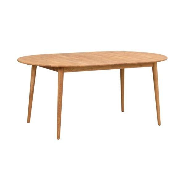 Terrance Modern Oak Wood Oval Extendable Kitchen Dining Table