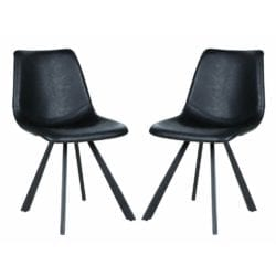 Alto Contemporary Style Faux Leather Black Chair