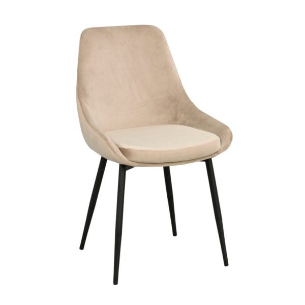 Samantha Contemporary Style Velvet Dining Chair - Set of 2 - Available in a Choice of Colours