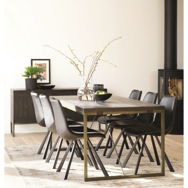 Eras Wooden Extendable Kitchen Dining Table - Available in a Choice of Colours
