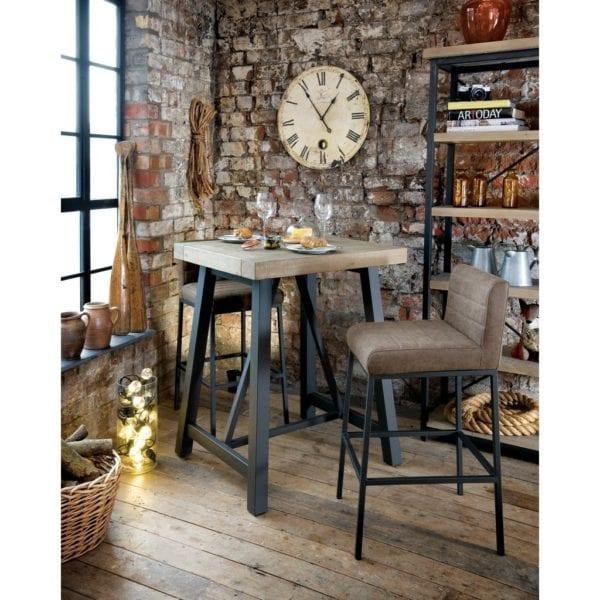 Lockridge Industrial Style Wooden Bar Table