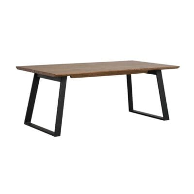 Marcia Industrial Style Large Extendable Wooden Kitchen Dining Table in Brown Oak