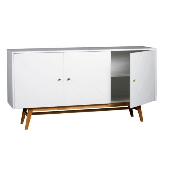 Rimby Contemporary Style Large Sideboard with Oak Legs - Available in a Choice of Colours
