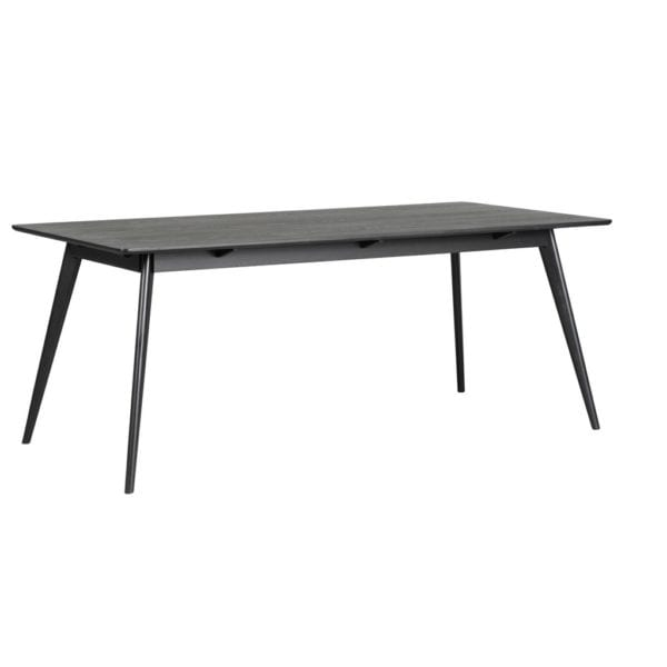 Yamara Modern Oak Veneer Kitchen Dining Table - Available in a Choice of Colours