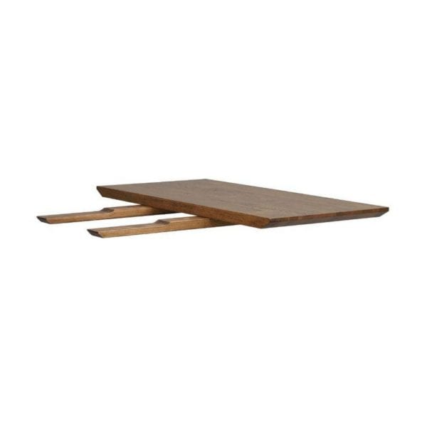 Marcia Wooden Kitchen Dining Table Extension Leaf in Brown Oak - Set of 2