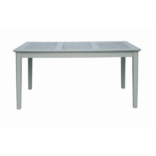 Moreton Handcrafted Grey Kitchen Dining Table with Natural Stone Insert Top - Available in a Choice of Sizes