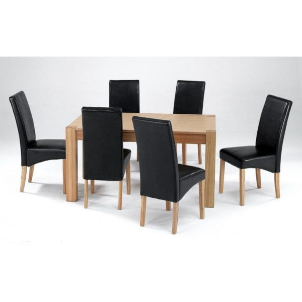 Cypresses Wooden Dining Table in Natural Ash with Ash Veneer - Available in a Choice of Sizes