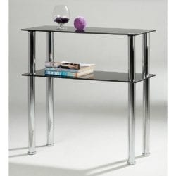 Huffman Console Table in Glass & Chrome - Available in a Choice of Finishes
