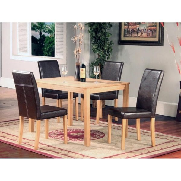 Ashbee Solid Wood Kitchen or Dining Table with Ash Veneer