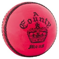 Readers Pink County Crown Cricket Ball - Available in a Choice of Sizes