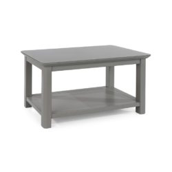 Adare Cloudy Grey Classic Coffee Table with Glass Top & Undershelf