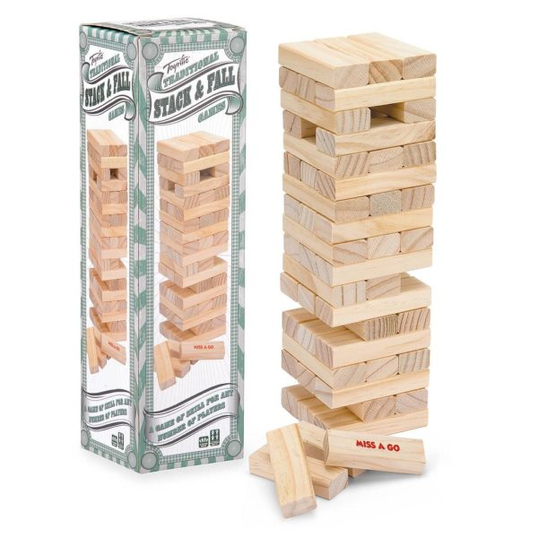 Toyrific Stack and Fall Wooden Garden Game