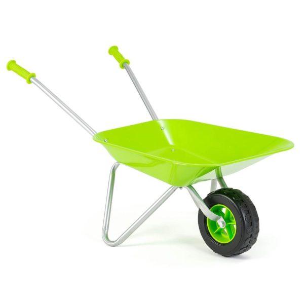 Little Roots Children's Green Wheelbarrow