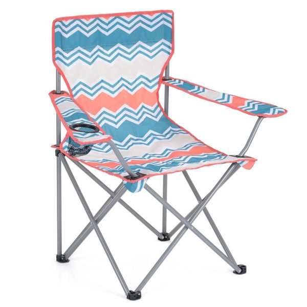 Yello Zigzag Folding Camping Chair with Carry Bag