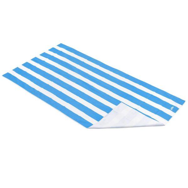 Yello Quick Drying Beach Towel in Blue & White