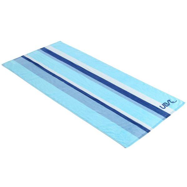 UB Blue Stripe 100% Cotton Beach Towel
