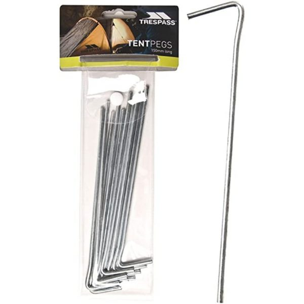 Trespass Axion Steel Tent Pegs - Pack of 10