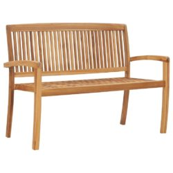 Solid Teak Stacking Garden Bench - Available in a Choice of Sizes